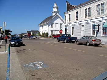 Accessible parking on the Mendocino Coast